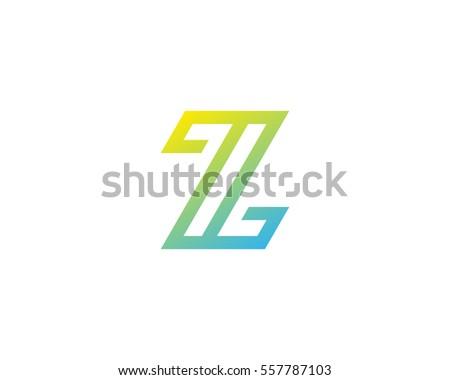 letter z modern line logo