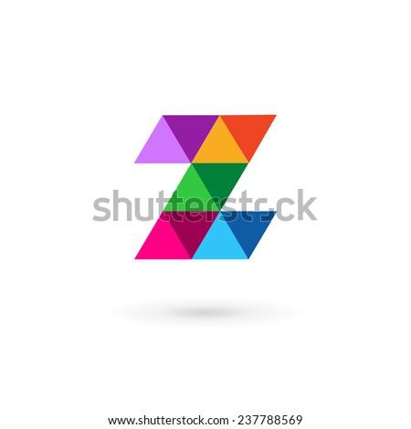 letter z number 2 mosaic logo