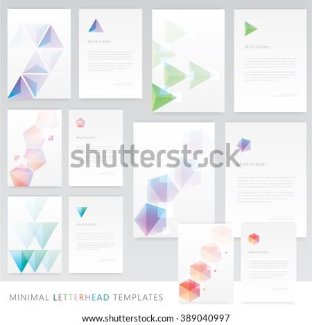 clean minimal letterhead template design download free vector art