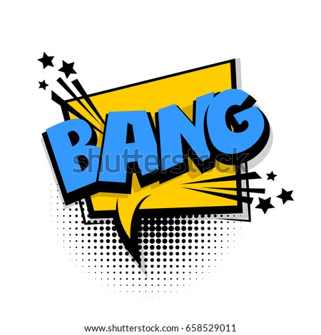 lettering bang comic book
