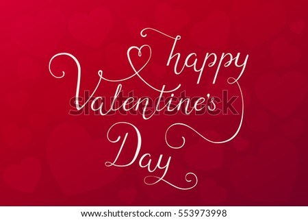Happy valentines day card template download free vector art lettering pronofoot35fo Image collections