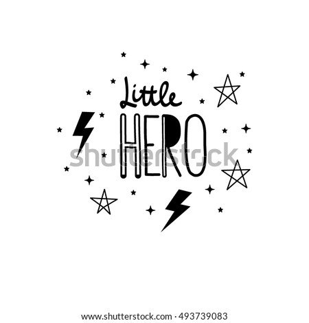 lettering little hero with