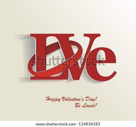 Love letter theme vector Free Vector / 4Vector