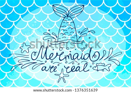 Free Watercolor Mermaid Vector Illustration - Download Free Vector