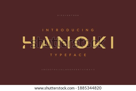 Lettering Modern Alphabet font. Futuristic designs. Typography fonts regular, typeface uppercase and lowercase.