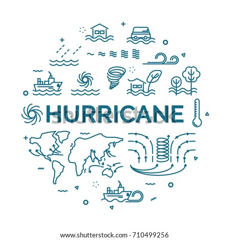 lettering of hurricane concept