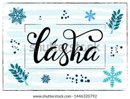lettering on czech language