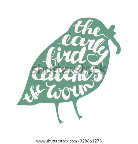 lettering proverb early bird