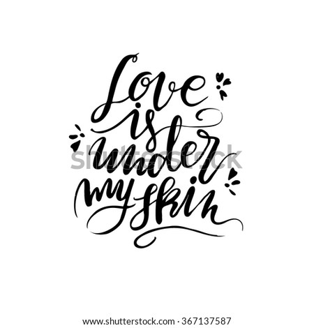 lettering quote love is under