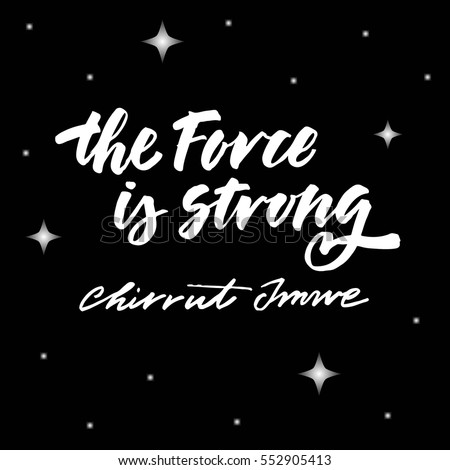 lettering quote star wars i
