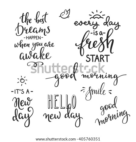 Lettering Quotes Set Motivation For Life And Happiness