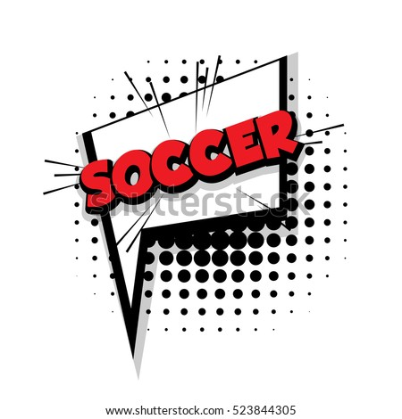 lettering soccer comic text