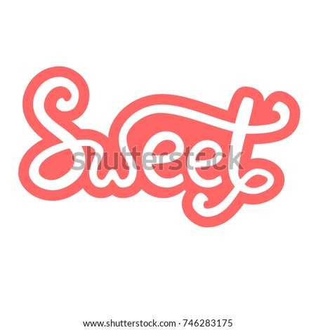 lettering  sweet  pink