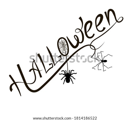 lettering the word halloween