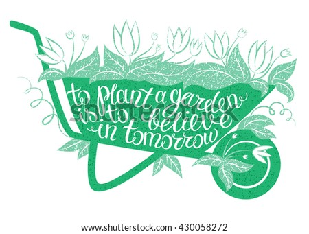 lettering to plant a garden is