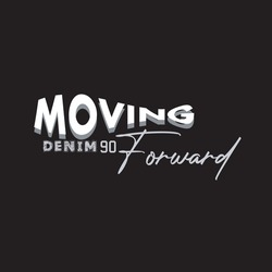 lettering typography moving forward quotes motivation about life print vector illustration
