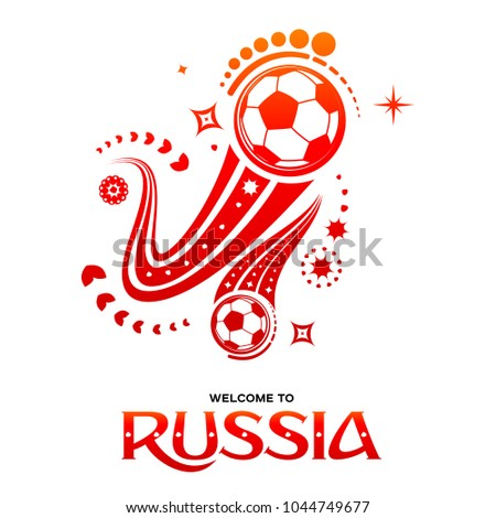 lettering welcome to russia