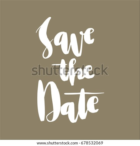 lettering words save the date