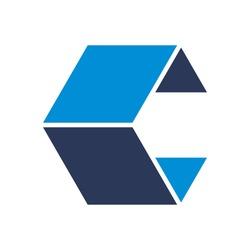 lettermark logo of letter c. cube logo. box logo. template vector. icon.lettermark logo of letter B and Y