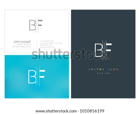Letters B F, B & F joint logo icon vector element. Stock fotó ©