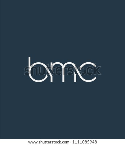 Letters BMC Joint logo icon vector element.