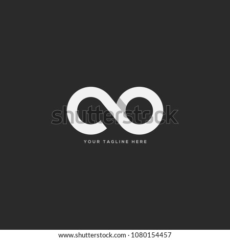 Letters C O, C & O Company logo icon in grey and white colour vector element. Foto stock ©