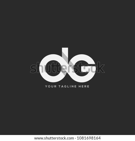 letters d g joint logo icon
