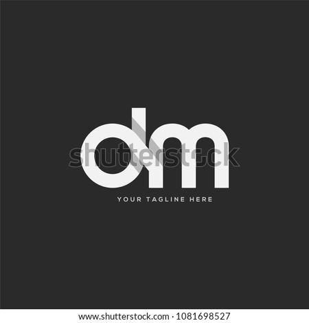 Letters D M joint logo icon vector template.  Stok fotoğraf ©