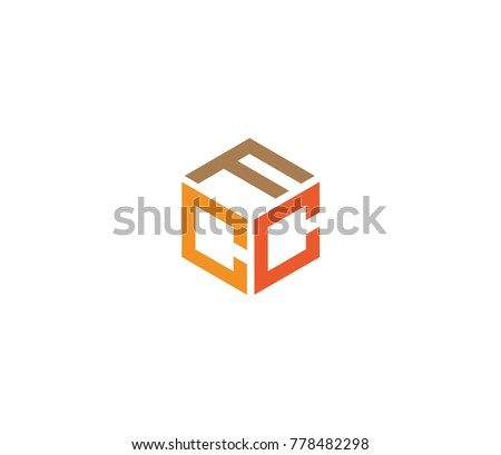 Letters FCC logo template, Three letter icon