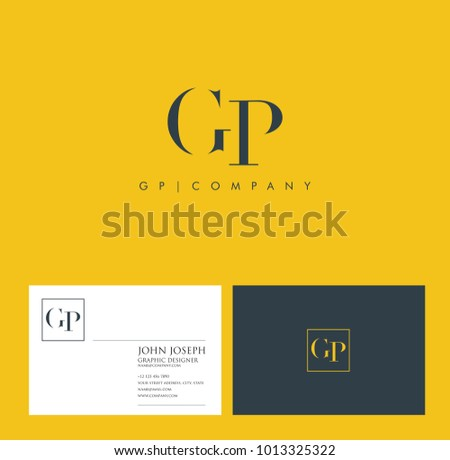 Letters G P, G & P joint logo icon vector element.