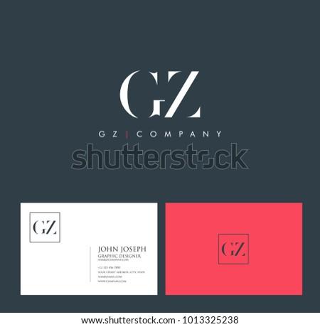 Letters G Z, G & Z joint logo icon vector element. Stok fotoğraf ©