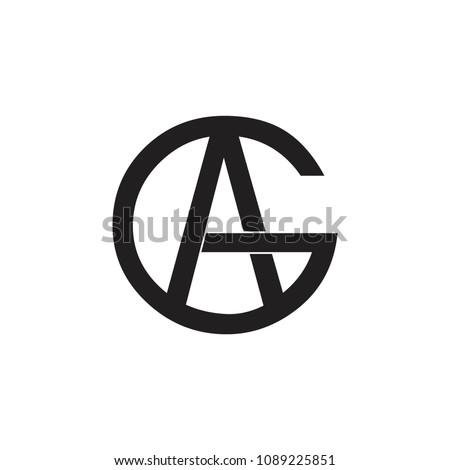 letters ga geometric design