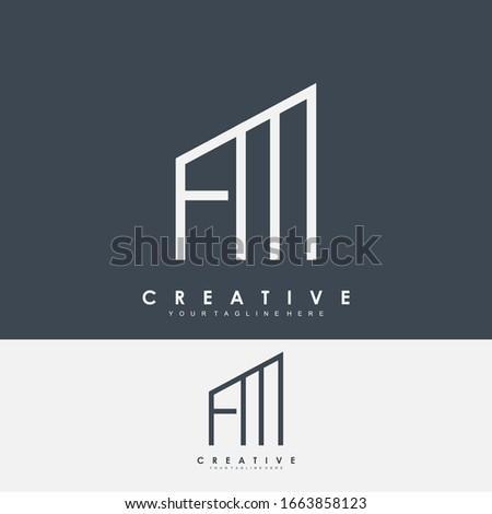 letters logo f m alphabet Stock fotó ©