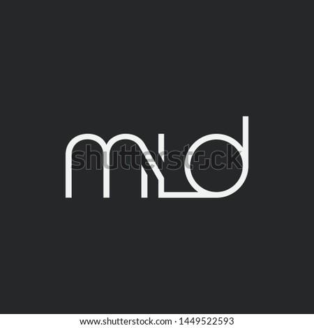 Letters M L D Joint logo icon vector element. Stock fotó ©