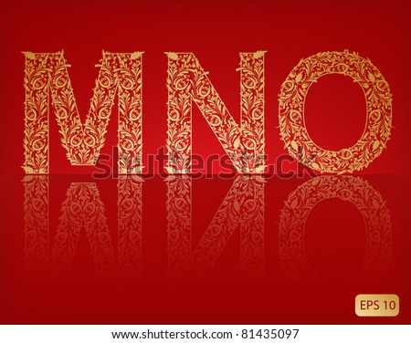 Letters -  m, n, o