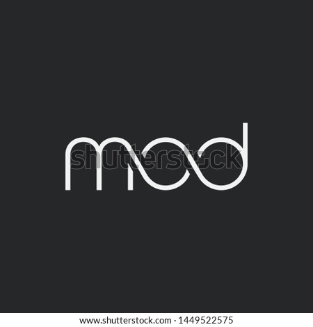 Letters M O D Joint logo icon vector element. Foto stock ©