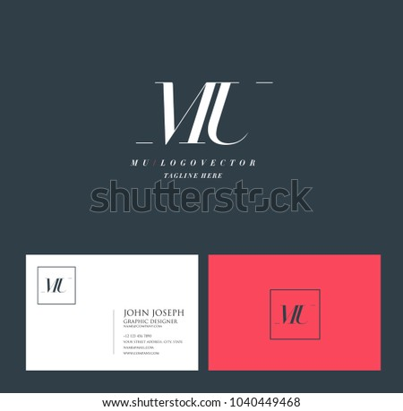 Letter m logo with business card template download vetores e letters m u m u joint logo icon with business card vector template reheart Choice Image