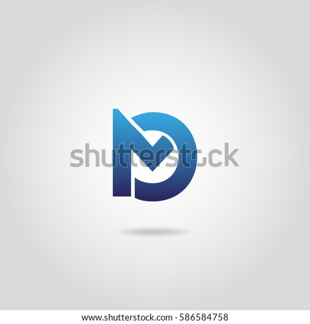 Letters MO icon design on white background Foto stock ©