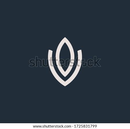 Letters O and V or OV line logo design. Linear minimal stylish emblem. Luxury elegant vector element. Premium business logotype. Graphic alphabet symbol for corporate business identity Stock fotó ©