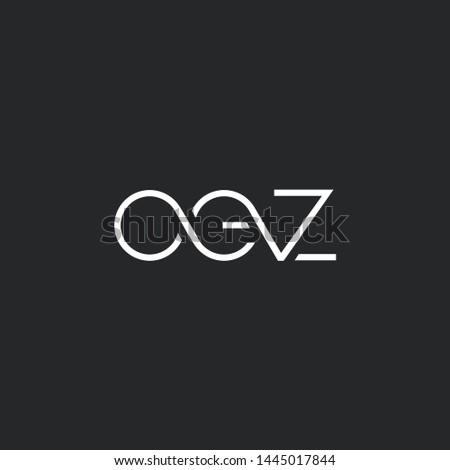 Letters O E Z Joint logo icon vector element. Zdjęcia stock ©