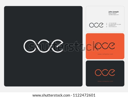 Letters OCE logo icon with business card vector template.