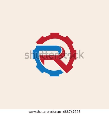 letters r gear logo