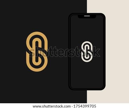 Letters S and C or SC line logo design. Linear minimal stylish emblem. Luxury elegant vector element. Premium business logotype. Graphic alphabet symbol for corporate business identity