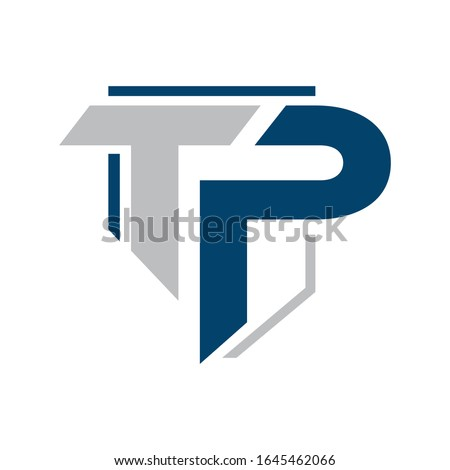 Letters TP combination logo icon vector template illustrations  Stock fotó ©
