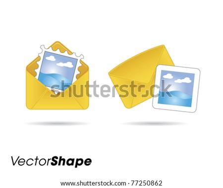 Letters web application icons vector illustration