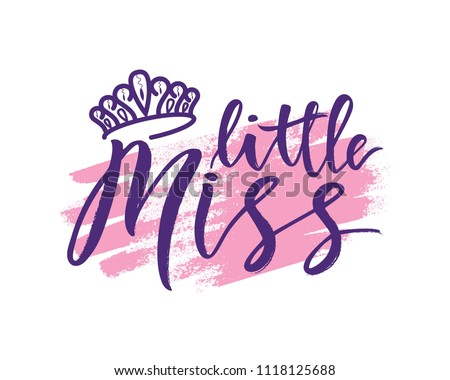 lettring of little miss with