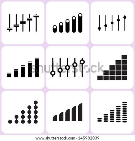 level icons set