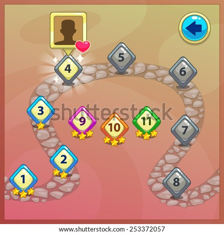 level indicators for game ui