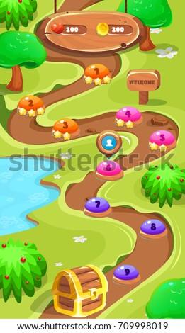 level map assetsforest world