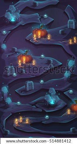Level map vertical scrolling user interface seamless background vector image for mobile game.